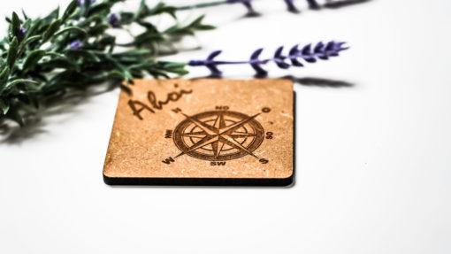 Untersetzer Ahoi Kompass natur MAR-Maritim 2