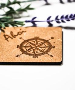Untersetzer Ahoi Kompass natur MAR-Maritim