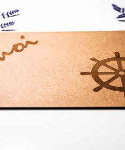 Unterlage Ahoi Steuerrad natur MAR-Maritim 2