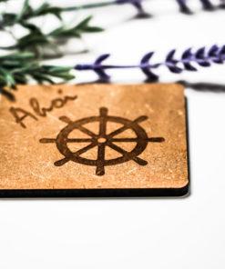 Untersetzer Ahoi Steuerrad natur MAR-Maritim 2
