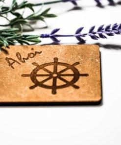 Untersetzer Ahoi Steuerrad natur MAR-Maritim