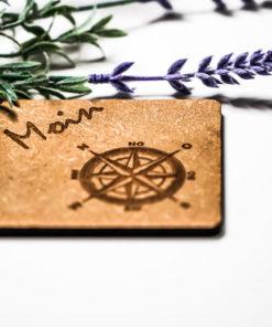 Untersetzer Moin Kompass natur MAR-Maritim 2