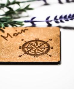 Untersetzer Moin Kompass natur MAR-Maritim