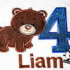 Kinder T-Shirt Bär Shirt mit Zahl; Namen & Motiv; personalisiert; Geburtstag Kinder; Geburtstagsshirt; Stickerei | bestickt; Babybody