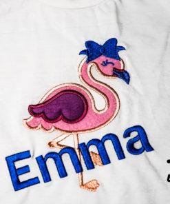 Kinder T-Shirt Flamingo personalisiert, Shirt bestickt, Geburtstagsshirt KIN-Kinder 2