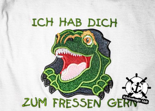 Kinder T-Shirt Dinogesicht personalisiert, Shirt bestickt, Geburtstagsshirt KIN-Kinder 2