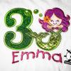 Kinder T-Shirt Meerjungfrau Shirt mit Zahl; Namen & Motiv; personalisiert; Geburtstag Kinder; Geburtstagsshirt; Stickerei   bestickt; Babybody
