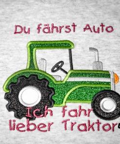 Kinder T-Shirt Traktor personalisiert, Shirt bestickt, Geburtstagsshirt KIN-Kinder 2