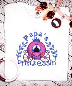 Kinder T-Shirt Kutsche personalisiert, Shirt bestickt, Geburtstagsshirt KIN-Kinder