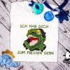 Kinder T-Shirt Dinogesicht Shirt mit Text & Motiv; personalisiert; Stickerei   bestickt; Babybody