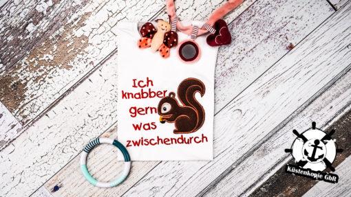 Kinder T-Shirt Eichhörnchen personalisiert, Shirt bestickt, Geburtstagsshirt KIN-Kinder