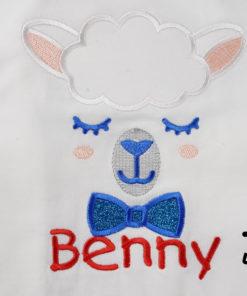 Kinder T-Shirt Lama Junge personalisiert, Shirt bestickt, Geburtstagsshirt KIN-Kinder 2