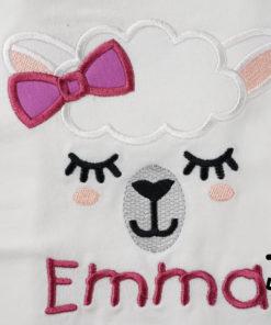 Kinder T-Shirt Lama Mädchen personalisiert, Shirt bestickt, Geburtstagsshirt KIN-Kinder 2