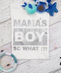 Kinder T-Shirt Mamas Boy, Babybody KIN-Kinder