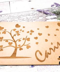 Unterlage Baum-Herzen natur SON-Sonstiges