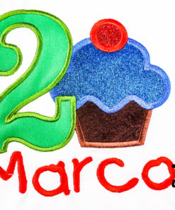 Kinder T-Shirt Muffin personalisiert, Shirt bestickt, Geburtstagsshirt KIN-Kinder 2