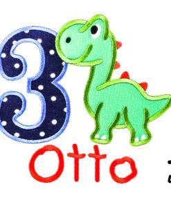 Kinder T-Shirt Sweet Dino personalisiert, Shirt bestickt, Geburtstagsshirt KIN-Kinder 2