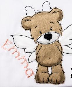 Kinder T-Shirt Teddy Fee personalisiert, Shirt bestickt, Geburtstagsshirt KIN-Kinder 2