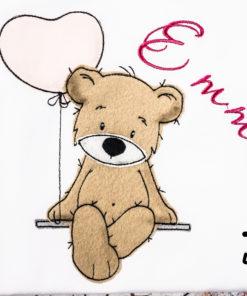 Kinder T-Shirt Teddy Ballon personalisiert, Shirt bestickt, Geburtstagsshirt KIN-Kinder 2