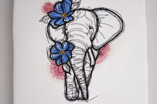 Bestickte Leinwand Elephant | Bildstickerei | Deko fürs Kinderzimmer | Dekoration | Geschenk BIL-Bilder 3