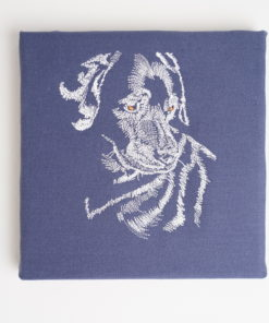 Bestickte Leinwand Hund | Bildstickerei | Deko fürs Kinderzimmer | Dekoration | Geschenk BIL-Bilder 2