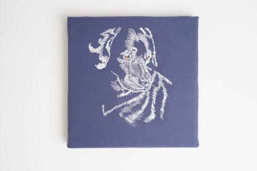 Bestickte Leinwand Hund   Bildstickerei   Deko fürs Kinderzimmer   Dekoration   Geschenk BIL-Bilder 2
