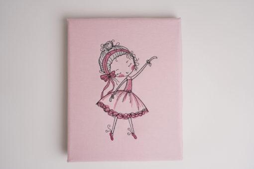 Bestickte Leinwand Ballerina   Bildstickerei   Deko fürs Kinderzimmer   Dekoration   Geschenk BIL-Bilder 2