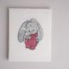 Bestickte Leinwand Bulldogge | Bildstickerei | Deko fürs Kinderzimmer | Dekoration | Geschenk BIL-Bilder 2