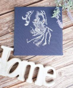 Bestickte Leinwand Hund | Bildstickerei | Deko fürs Kinderzimmer | Dekoration | Geschenk BIL-Bilder