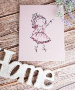 Bestickte Leinwand Ballerina | Bildstickerei | Deko fürs Kinderzimmer | Dekoration | Geschenk BIL-Bilder