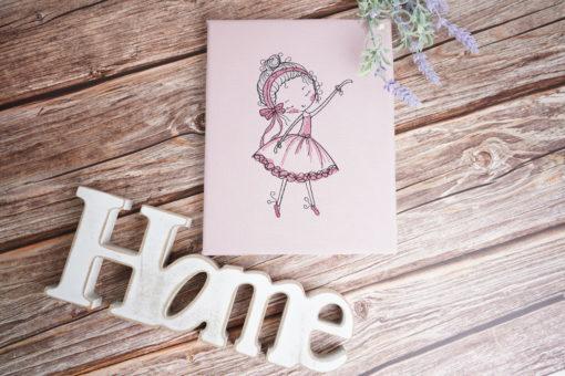 Bestickte Leinwand Ballerina   Bildstickerei   Deko fürs Kinderzimmer   Dekoration   Geschenk BIL-Bilder