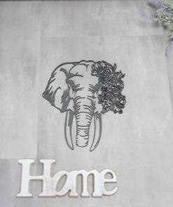 Wanddekoration, Wandbild Elefant in verschiedenen Farben, Lasergeschnittenes Bild, Dekoration BIL-Bilder 2