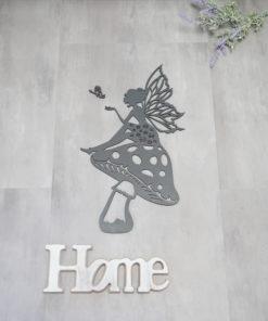 Wanddekoration, Wandbild Fee Pilz in verschiedenen Farben, Lasergeschnittenes Bild, Dekoration BIL-Bilder 2