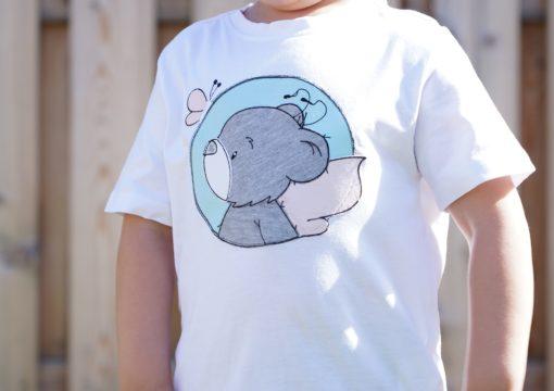 Kinder T-Shirt Button Teddy personalisiert, Shirt bestickt, Geburtstagsshirt KIN-Kinder 4