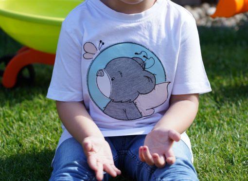 Kinder T-Shirt Button Teddy personalisiert, Shirt bestickt, Geburtstagsshirt KIN-Kinder 3
