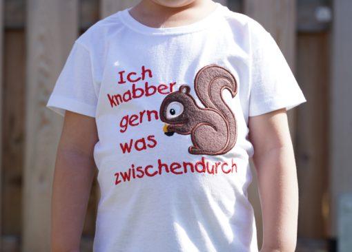 Kinder T-Shirt Eichhörnchen personalisiert, Shirt bestickt, Geburtstagsshirt KIN-Kinder 8
