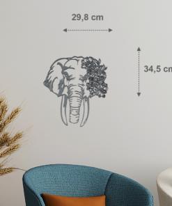 Wanddekoration, Wandbild Elefant in verschiedenen Farben, Lasergeschnittenes Bild, Dekoration BIL-Bilder
