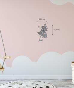 Wanddekoration, Wandbild Fee Pilz in verschiedenen Farben, Lasergeschnittenes Bild, Dekoration BIL-Bilder