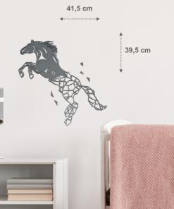 Wanddekoration, Wandbild Pferd in verschiedenen Farben, Lasergeschnittenes Bild, Dekoration BIL-Bilder