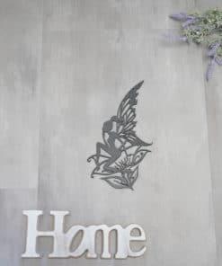 Wanddekoration, Wandbild Fee Blume in verschiedenen Farben, Lasergeschnittenes Bild, Dekoration BIL-Bilder 2