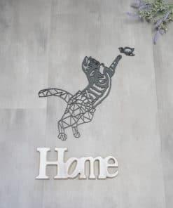 Wanddekoration, Wandbild Katze in verschiedenen Farben, Lasergeschnittenes Bild, Dekoration BIL-Bilder 2