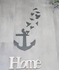 Wanddekoration, Wandbild Anker in verschiedenen Farben, Lasergeschnittenes Bild, Dekoration BIL-Bilder 2