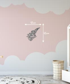 Wanddekoration, Wandbild Fee Blume in verschiedenen Farben, Lasergeschnittenes Bild, Dekoration BIL-Bilder