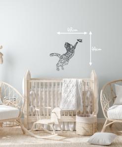 Wanddekoration, Wandbild Katze in verschiedenen Farben, Lasergeschnittenes Bild, Dekoration BIL-Bilder