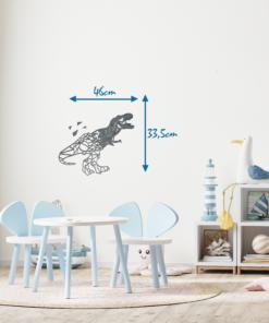 Wanddekoration, Wandbild Dino in verschiedenen Farben, Lasergeschnittenes Bild, Dekoration BIL-Bilder
