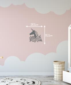 Wanddekoration, Wandbild Einhorn in verschiedenen Farben, Lasergeschnittenes Bild, Dekoration BIL-Bilder